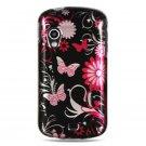 Hard Plastic Design Case for Samsung Stratosphere i405 - Pink Butterfly