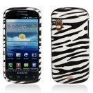 Hard Plastic Design Case for Samsung Stratosphere i405 - Black and White Zebra