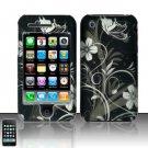 Hard Plastic Rubber Feel Design Case for Apple iPhone 3G/3GS - Midnight Garden
