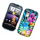 Hard Plastic Glossy Cover Case for HTC Amaze 4G/Ruby - Colorful Blossom