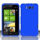 Hard Plastic Rubber Feel Cover Case for HTC Titan X310e - Blue