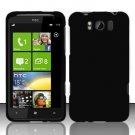 Hard Plastic Rubber Feel Cover Case for HTC Titan X310e - Black