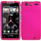 Hard Plastic Rubber Feel Case for Motorola Droid RAZR XT912 - Hot Pink