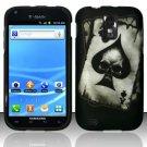 Hard Plastic Rubber Feel Design Case for Samsung Galaxy S II/Hercules T989 - Ace of Spade Skull