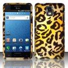 Hard Plastic Rubber Feel Design Case for Samsung Infuse 4G i997 - Golden Cheetah