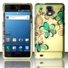 Hard Plastic Rubber Feel Design Case for Samsung Infuse 4G i997 - Azure Flowers