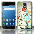 Hard Plastic Rubber Feel Design Case for Samsung Infuse 4G i997 - Colorful Flowers