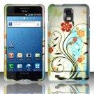 Hard Plastic Rubber Feel Design Case for Samsung Infuse 4G i997 - Colorful Flowers
