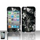 Hard Plastic Rubber Feel Design Case for Apple iPod Touch 4 - Midnight Garden
