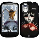 Hard Plastic Rubber Feel Design Case for HTC Amaze 4G/Ruby - Black Zombie Hand