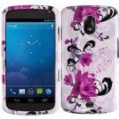 Hard Plastic Design Case for Samsung Galaxy Nexus CDMA i515/i9250 (Verizon/Sprint) - Purple Lily