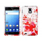 Hard Plastic Design Cover Case for Samsung Infuse 4G i997 - Red Hearts