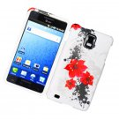Hard Plastic Design Cover Case for Samsung Infuse 4G i997 - White and Red Lily