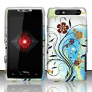 Hard Plastic Rubber Feel Design Case for Motorola Droid RAZR XT912 - Colorful Flowers