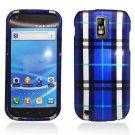 Hard Plastic Design Cover Case for Samsung Galaxy S II/Hercules T989 - Blue Plaid