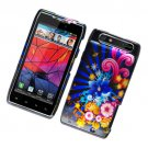 Hard Plastic Glossy Design Case for Motorola Droid RAZR XT912 - Colorful Blossom