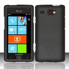 Hard Plastic Rubber Feel Design Case for Samsung Focus Flash i677 (AT&T) - Carbon Fiber