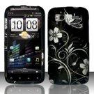 Hard Plastic Rubber Feel Design Case for HTC Sensation 4G - Midnight Garden