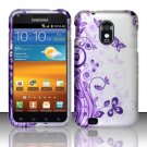 Hard Plastic Rubber Feel Design Case for Samsung Galaxy S II Epic 4G Touch - Vines and Butterfly
