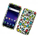 Hard Plastic Rubber Feel Design Case for Samsung Galaxy S II Skyrocket (AT&T) - Colorful Leopard