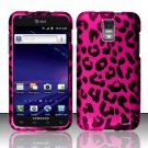 Hard Plastic Rubber Feel Design Case for Samsung Galaxy S II Skyrocket (AT&T) - Hot Pink Leopard