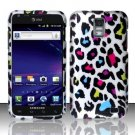 Hard Plastic Rubber Feel Design Case for Samsung Galaxy S II Skyrocket (AT&T) - Rainbow Leopard