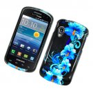 Hard Plastic Glossy Cover Case for Samsung Stratosphere i405 - Four Blue Flowers