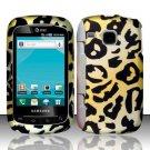 Hard Plastic Rubber Feel Design Case for Samsung DoubleTime i857 - Golden Cheetah