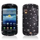 Hard Plastic Bling Rhinestone Design Case for Samsung Stratosphere i405 - Black Diamond