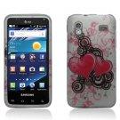 Hard Plastic Rubber Feel Design Case for Samsung Captivate Glide 4G - Lovely Hearts