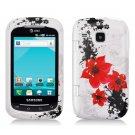 Hard Plastic Design Case for Samsung DoubleTime i857 (AT&T) - Red Lily