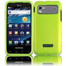 Hard Plastic Rubber Feel Case for Samsung Captivate Glide 4G (AT&T) - Neon Green