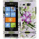 Hard Plastic Design Case for Samsung Focus Flash i677 (AT&T) - Green Flowers and Lily