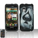 Hard Plastic Rubber Feel Design Case for Samsung Fascinate i500 - Ace of Spade Skull