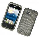 Hard Plastic Rubber Feel Design Case for LG myTouch Q C800/Maxx Q - Carbon Fiber