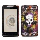 Hard Plastic Rubber Feel Design Case for Motorola Droid RAZR XT912 - Lion and Skull