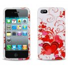 Hard Plastic Design Case for Apple iPhone 4/4S - Floating Hearts