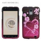 Hard Plastic Rubber Feel Design Case for Samsung Galaxy S II Skyrocket i727 - Lovely Hearts