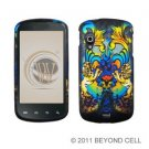 Hard Plastic Rubber Feel Design Case for Samsung Stratosphere i405 - Rainbow Lion Sculpture