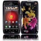Hard Plastic Rubber Feel Design Case for Motorola Droid 4 XT894 - Heavenly Flowers