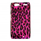 Hard Plastic Design Case for Motorola Droid RAZR Maxx XT916 - Black and Pink Leopard