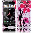 Hard Plastic Design Case for Motorola Droid RAZR Maxx XT916 - Pink Flower