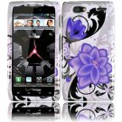 Hard Plastic Design Case for Motorola Droid RAZR Maxx XT916 - Violet Lily