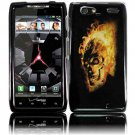 Hard Plastic Design Case for Motorola Droid RAZR Maxx XT916 - Flaming Skull