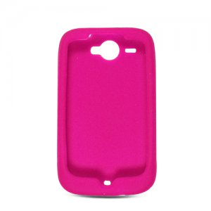 Soft Silicone Skin Cover Case for HTC Wildfire 6225 - Hot Pink