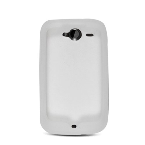 Soft Silicone Skin Cover Case for HTC Wildfire 6225 - Clear