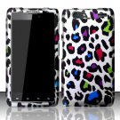 Hard Plastic Rubber Feel Design Case for Motorola Droid RAZR Maxx XT916 - Rainbow Leopard