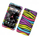Hard Plastic Rubber Feel Design Case for Motorola Droid RAZR Maxx XT913/XT916 - Abstract Zebra