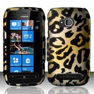 Hard Plastic 2 Piece Snap On Rubberized Case for Nokia Lumia 710 - Golden Cheetah