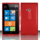 Soft TPU Gel Skin Cover Case for Nokia Lumia 900 (AT&T) - Red